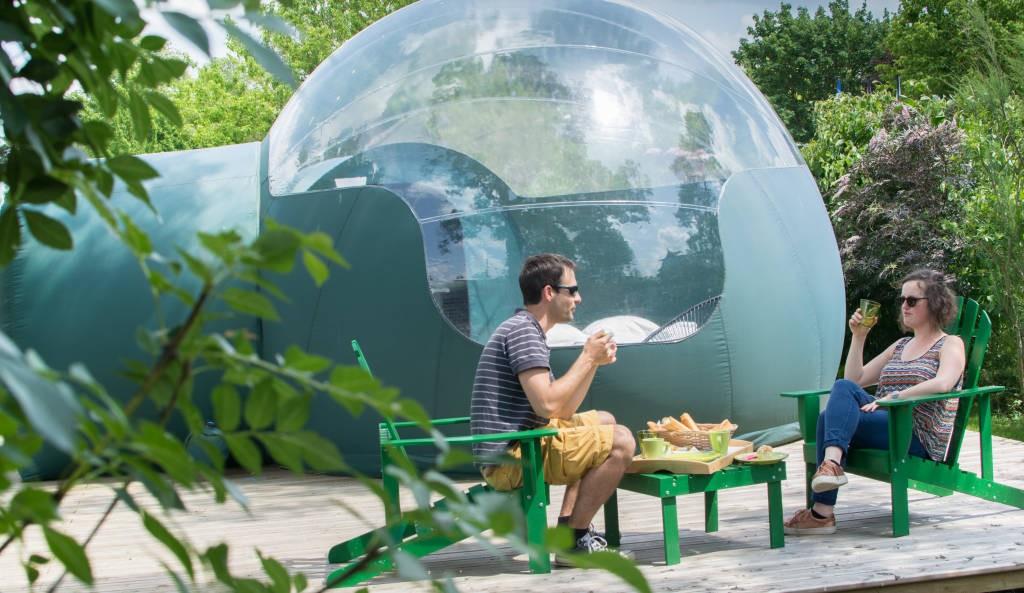 Week End Bulle Transparente Bretagne bulle transparente: hébergements insolites france, pays de