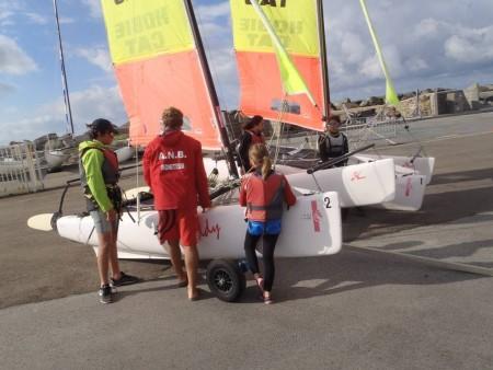 Catamarans association nautique de bourgenay autour de l 39 eau en pays de la loire - Port bourgenay office tourisme ...