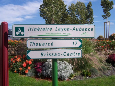 ITINERAIRE VELO LAYON AUBANCE